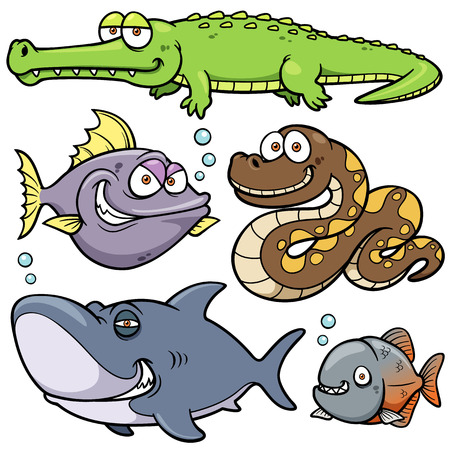 Vector illustration of Wild animal cartoon Vector