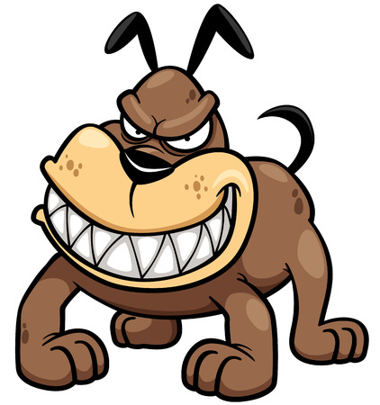 pit bull: Vector illustration of Angry Dog