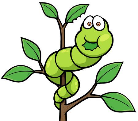 Vector illustratie van het beeldverhaal worm