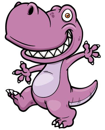 Vector illustratie van het beeldverhaal dinosaurus