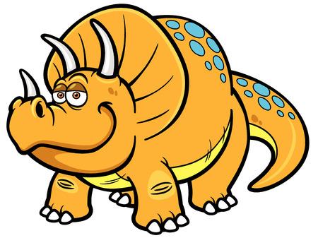 petrifying: Vector illustration of Cartoon dinosaur