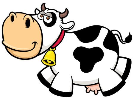 cow cartoon: Vector illustration of Cartoon Cow Illustration