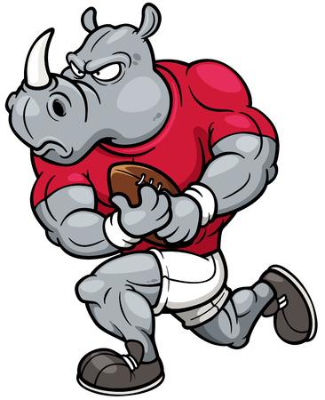 Vector illustration of Cartoon Rugby player Illustration