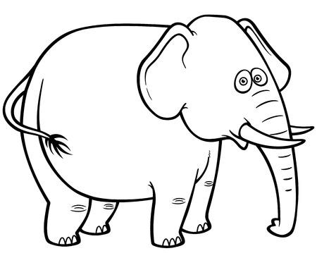 vector illustration of cartoon elephant coloring book stock vector 27321976