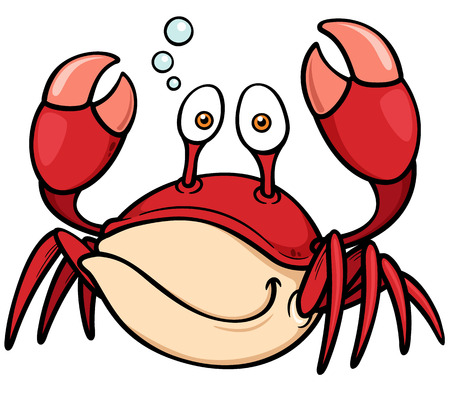 cangrejo caricatura: Ilustraci�n vectorial de dibujos animados cangrejo