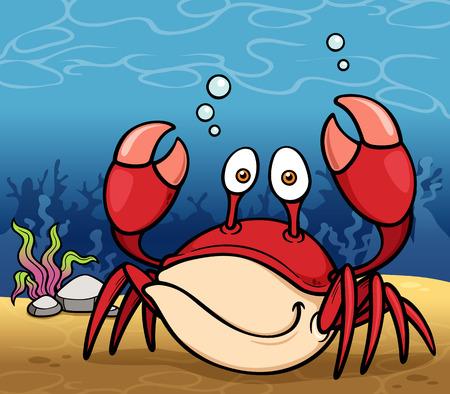 crustacea: Vector illustration of Cartoon crab