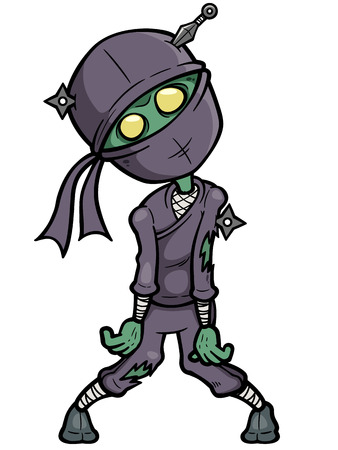 stealth: Vector illustration of Cartoon Ninja zombie