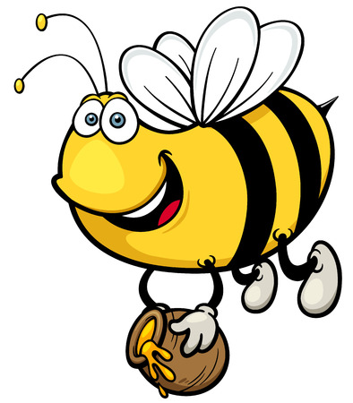 Vector illustration of Cartoon Bee Vector