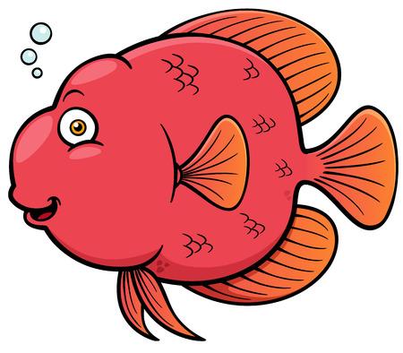 Vector illustration of Cartoon fish Stock Vector - 27322038