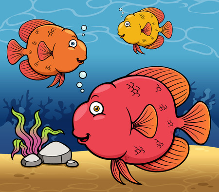 Vector illustration of Cartoon fish Vector
