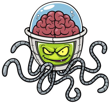 Vector illustration de bande dessinée Alien Banque d'images - 27311423