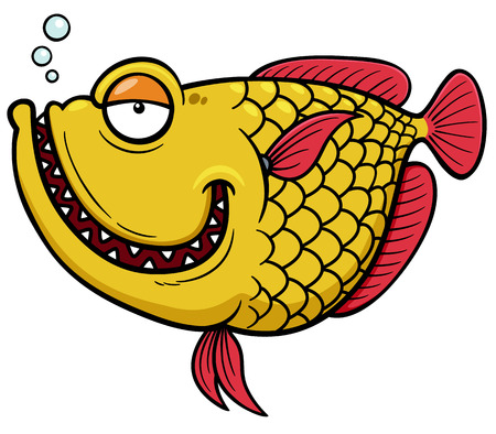 slit: Vector illustration of Fish cartoon Illustration