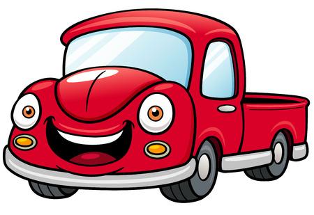 car road: Vector illustration of Cartoon car pickup