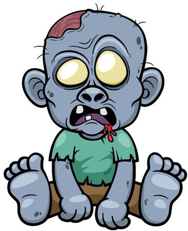 maggot: Vector illustration of Cartoon zombie Illustration