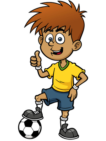 Vector illustration of Soccer player Vectores