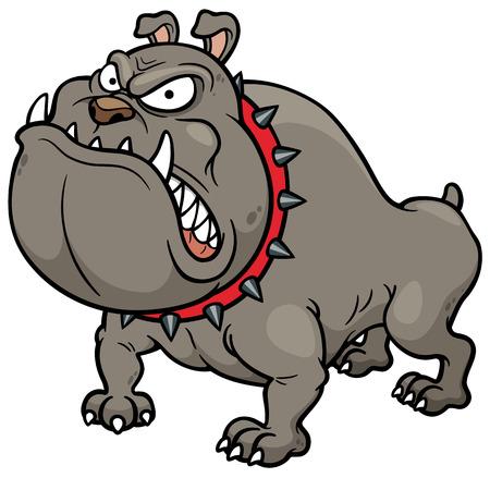 perro furioso: Ilustración vectorial de Angry Dog