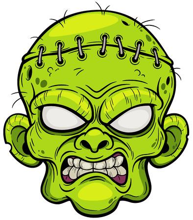 illustration of Cartoon Zombie face