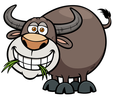 illustration of Cartoon Buffalo