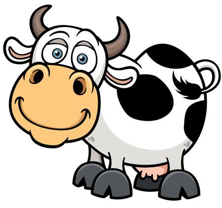 illustration of Cartoon Cow Vector