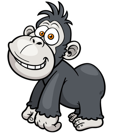illustration of Gorilla Cartoon Vector