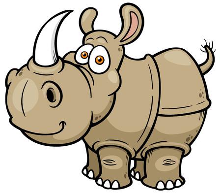 illustration de rhinocéros de bande dessinée Vecteurs