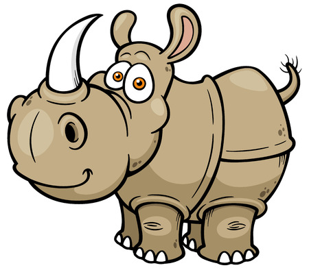 illustration of Cartoon rhino