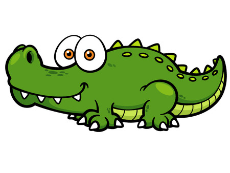 Vector illustration of Cartoon crocodile Illustration