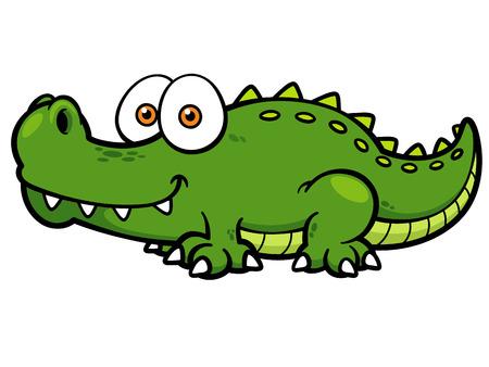 Vector illustratie van Cartoon krokodil