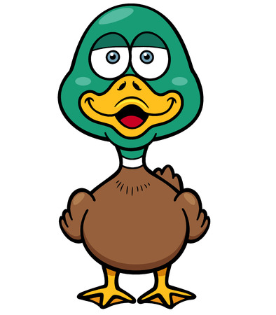 squeak: Vector illustration of Cartoon Duck Illustration