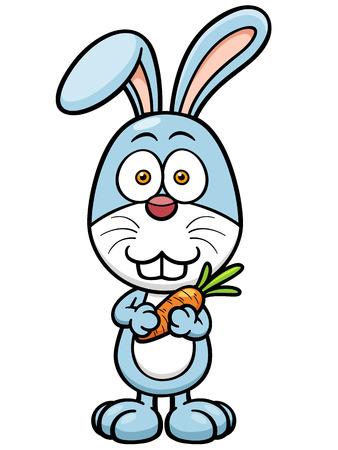 lapin cartoon: Vector illustration de lapin de dessin anim� carotte de d�tention