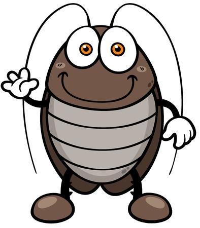 Vector illustration of cartoon cockroach Vector