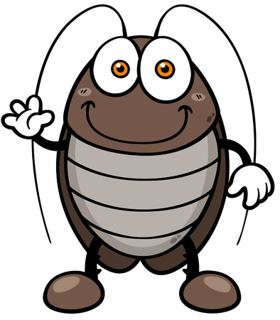 Vector illustration of cartoon cockroach Ilustração