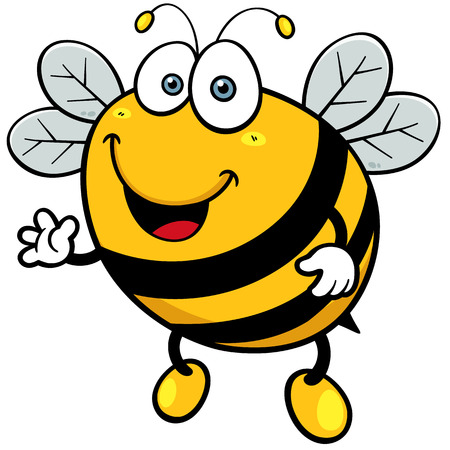 queen bee: Ilustraci�n del vector de la abeja de la historieta
