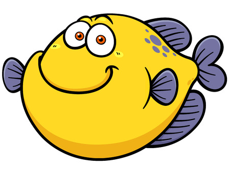 Vector illustration of Fish cartoon Ilustração