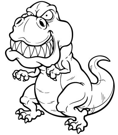 Ilustración vectorial de dinosaurio de la historieta - Coloring book Foto de archivo - 30122962