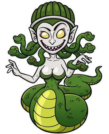 medusa: Vector illustration of Medusa Illustration