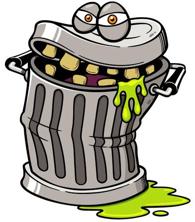 cesto basura: Ilustración vectorial de Monster Papelera