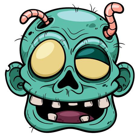 Vector illustration of Cartoon Zombie face Vector