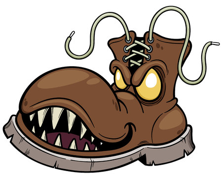 Vector illustration of Monster Boots Illustration