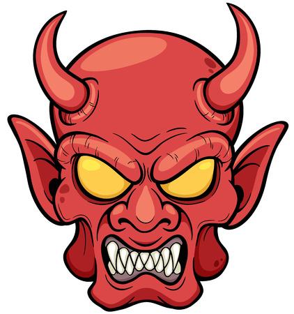 illustration of Devil face Vector