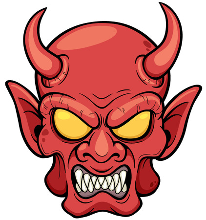 illustration of Devil face Illustration