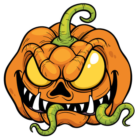 illustration of Halloween pumpkin Vector