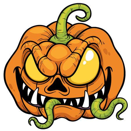 illustration of Halloween pumpkin Vector
