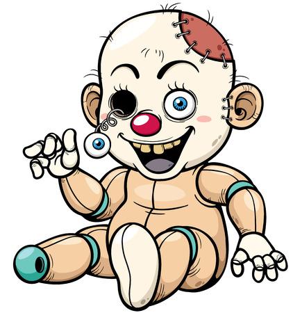 illustration of Cartoon Zombie Toy Vector