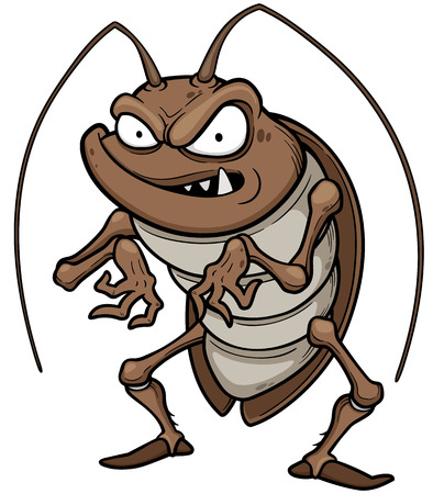 insects: illustration of cartoon cockroach Illustration