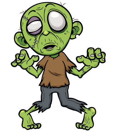 illustration of Cartoon zombie 向量圖像
