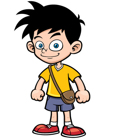 kid cartoon: illustration of Cartoon boy Illustration