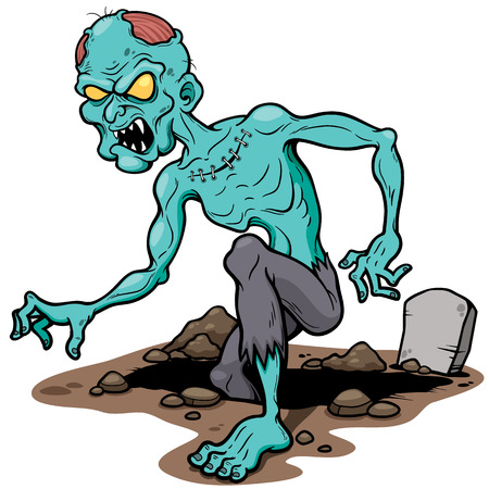 illustration of Cartoon zombie 免版税图像 - 30569845