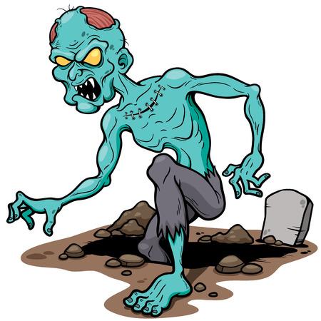 illustration of Cartoon zombie Illustration