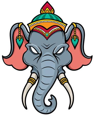 illustration of Elephant head Vector